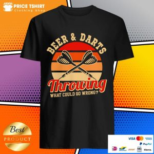 Beer And Darts Throwing What Could Go Wrong Vintage Retro Shirt