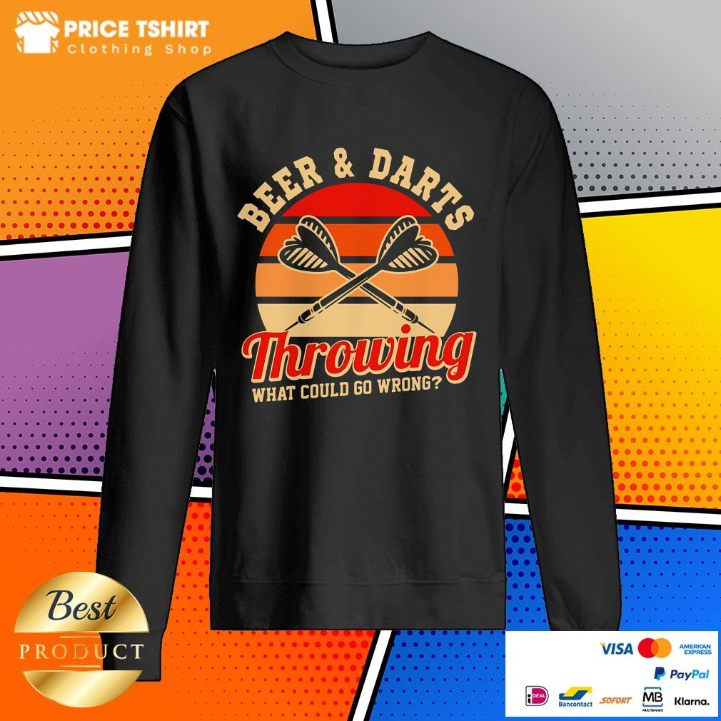 Beer And Darts Throwing What Could Go Wrong Vintage Retro Sweatshirt