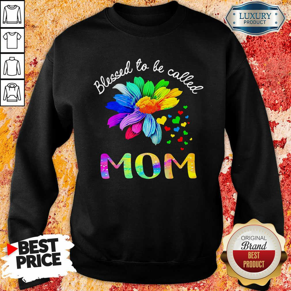 Blessed To Be Called Mom Flower Sweatshirt