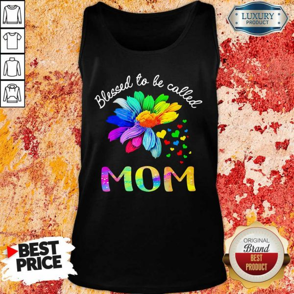 Blessed To Be Called Mom Flower Tank Top