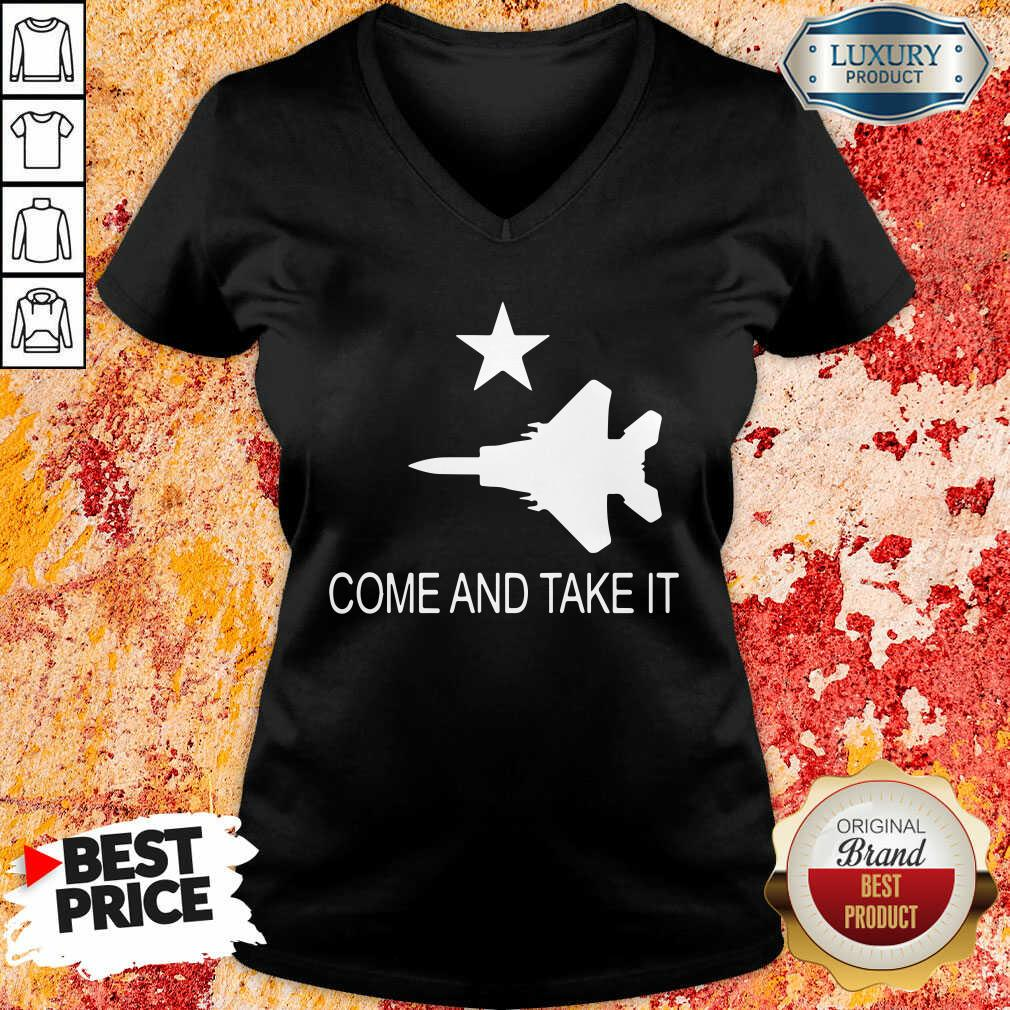 Fighter Aircraft Come And Take It Veteran V-neck
