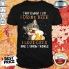 I Drink Beer I Love Cats And I Know Things Shirt