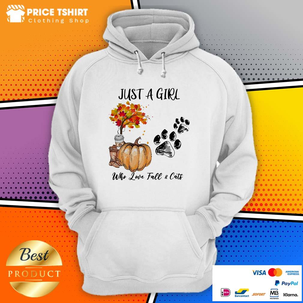 Just A Girl Who Love Fall And Cats Halloween Hoodie