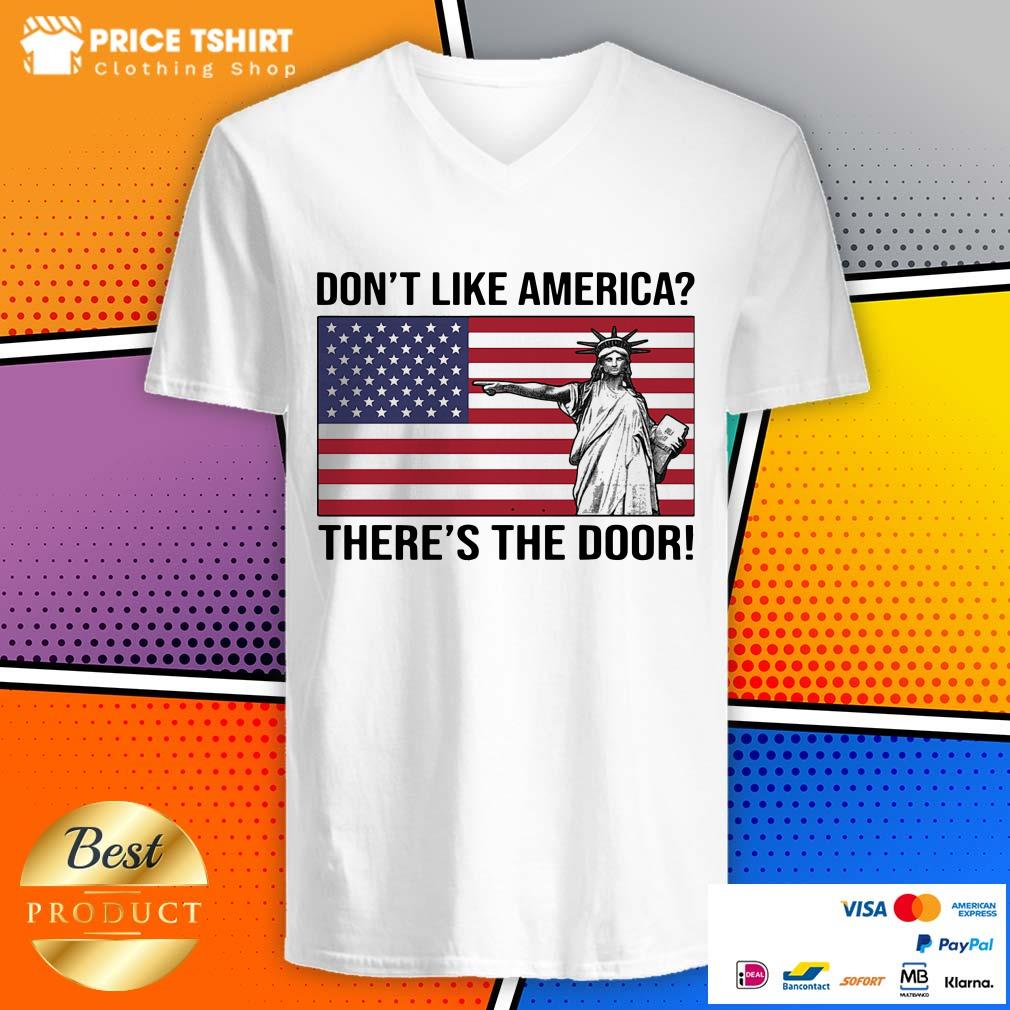 Liberties Do Not Like America There Is The Door American Flag V-neck