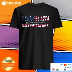 My Favorite People Call Me Lunch Lady American Flag Shirt