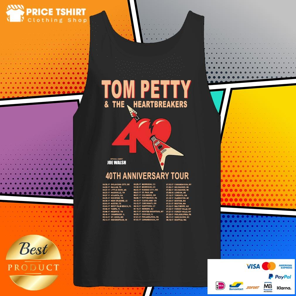 Tom Petty And The Heartbreakers 40th Anniversary Tour Tank Top