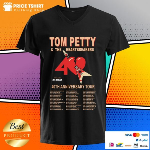 Tom Petty And The Heartbreakers 40th Anniversary Tour V-neck