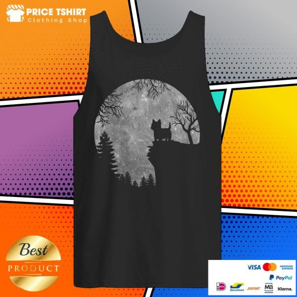 West Highland White Terrier In Forest Moon Halloween Tank Top