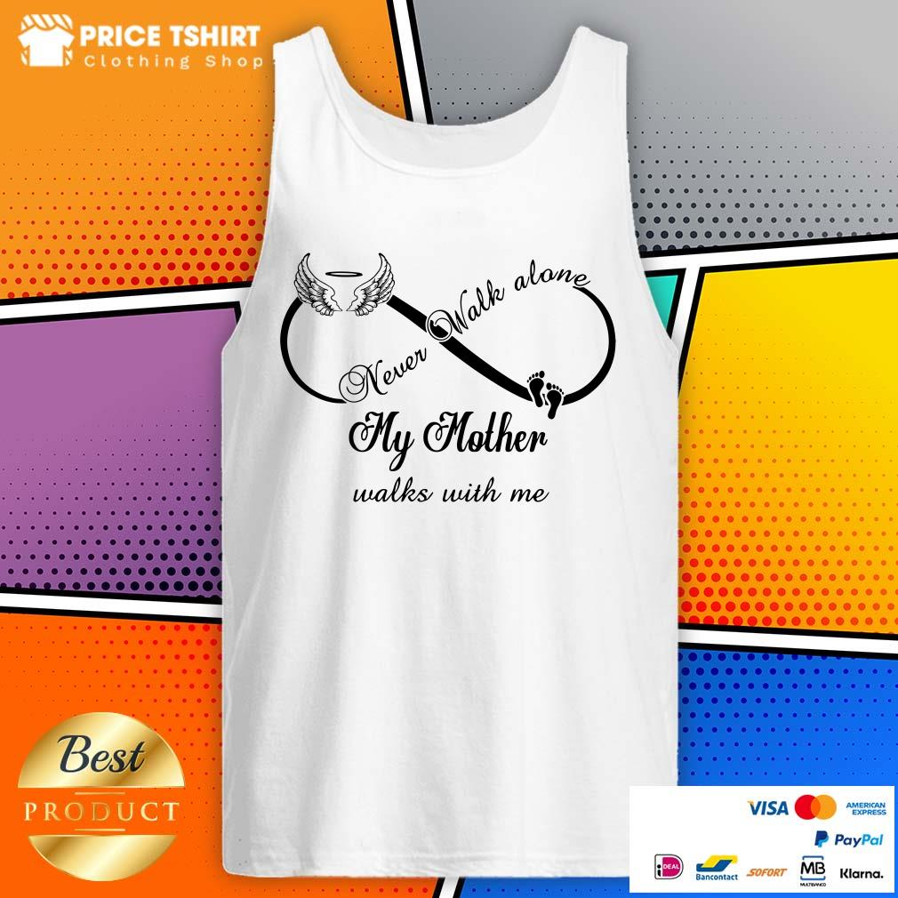 Wings And Paw Never Walk Along My Mother Walks With Me Tank Top