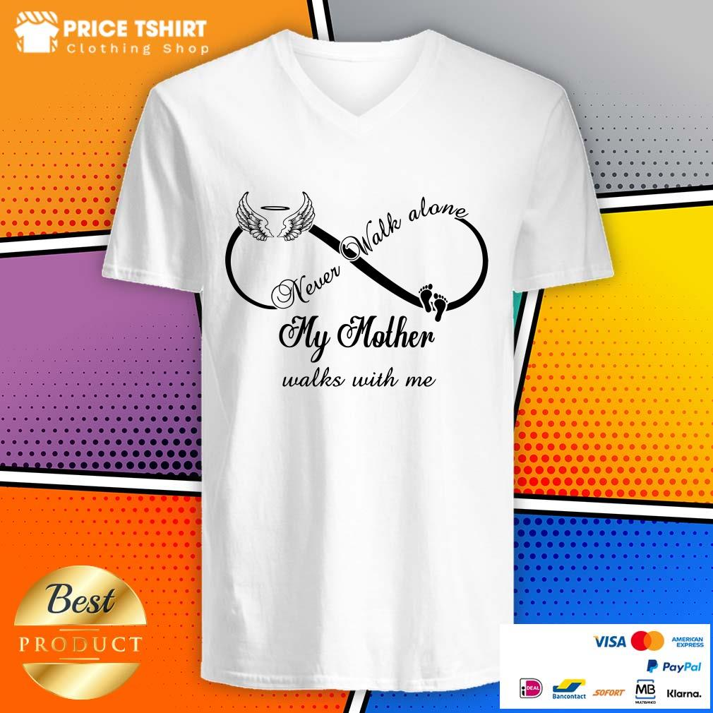 Wings And Paw Never Walk Along My Mother Walks With Me V-neck