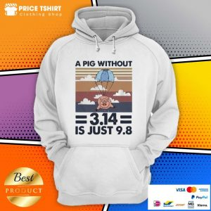 A Pig Without 314 Is Just 98 Vintage Retro Hoodie