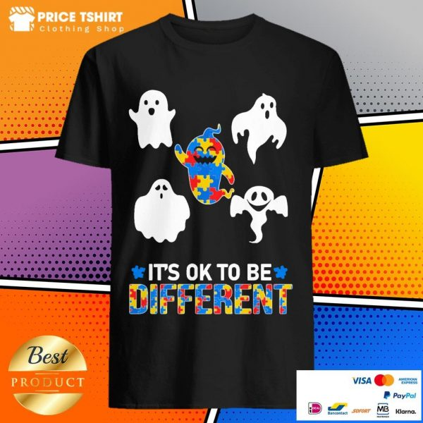 Autism Ghost It Is Ok To Be Different Shirt