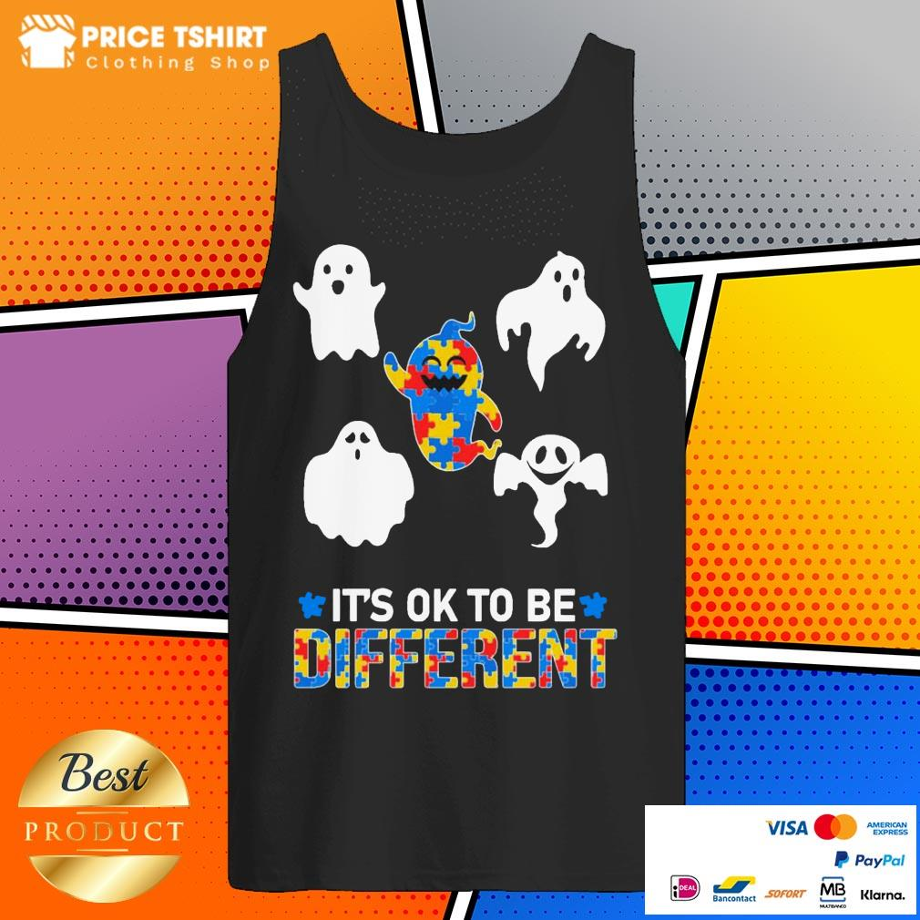 Autism Ghost It Is Ok To Be Different Tank Top