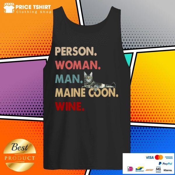 Cat Person Woman Man Maine Coon Wine Tank Top