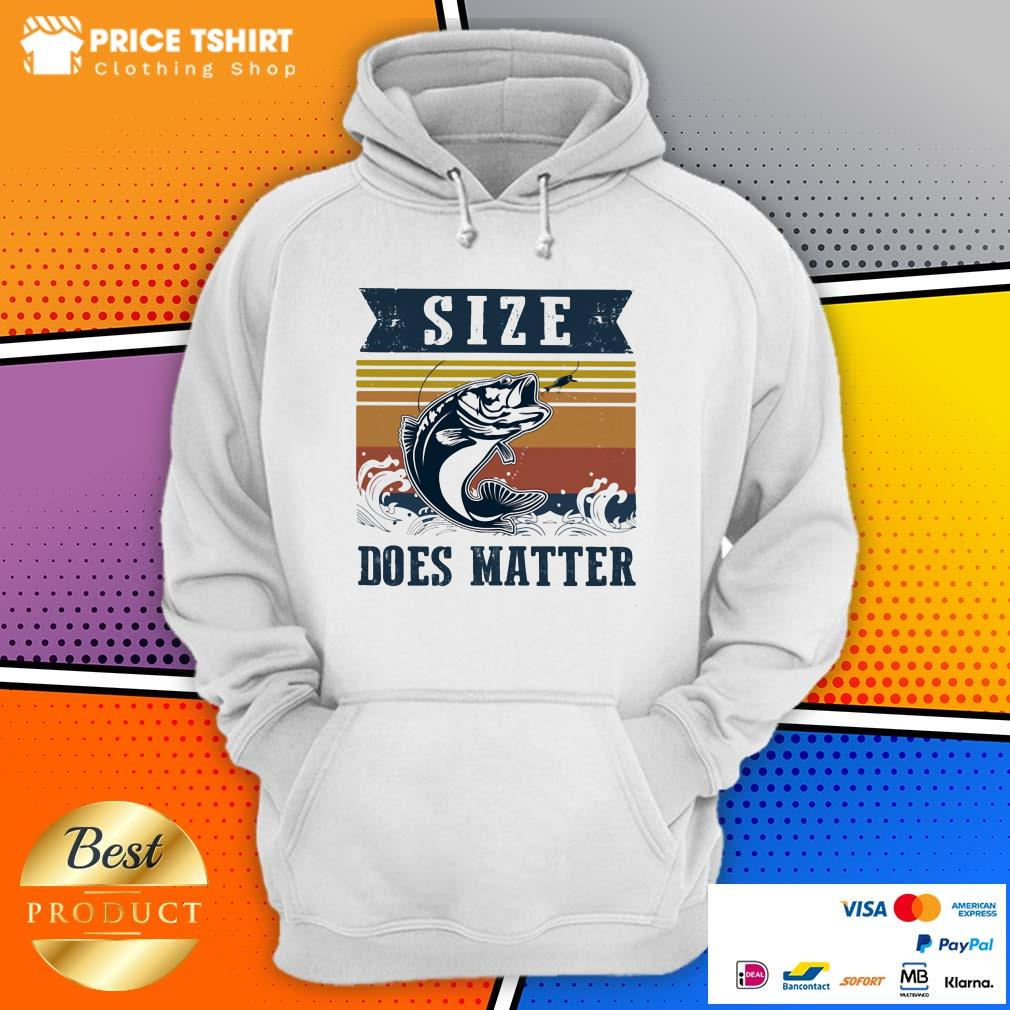 Fishing Size Does Matter Vintage Hoodie