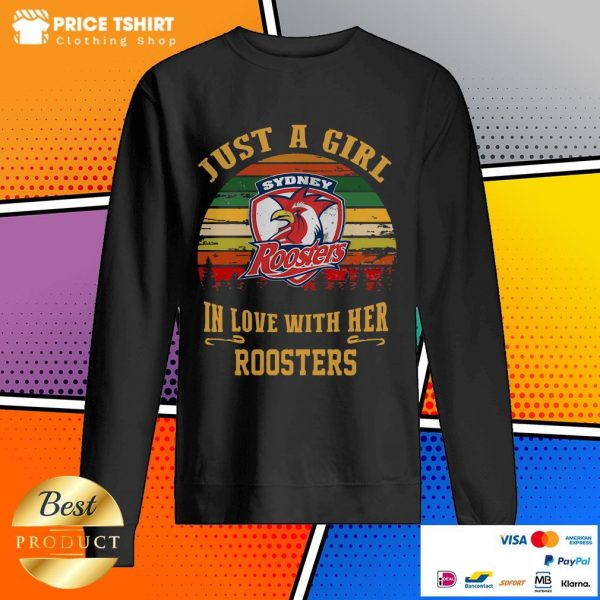 Sydney Roosters Just A Girl In Love With Her Roosters Vintage Retro Sweatshirt