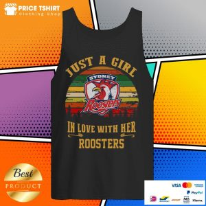 Sydney Roosters Just A Girl In Love With Her Roosters Vintage Retro Tank Top