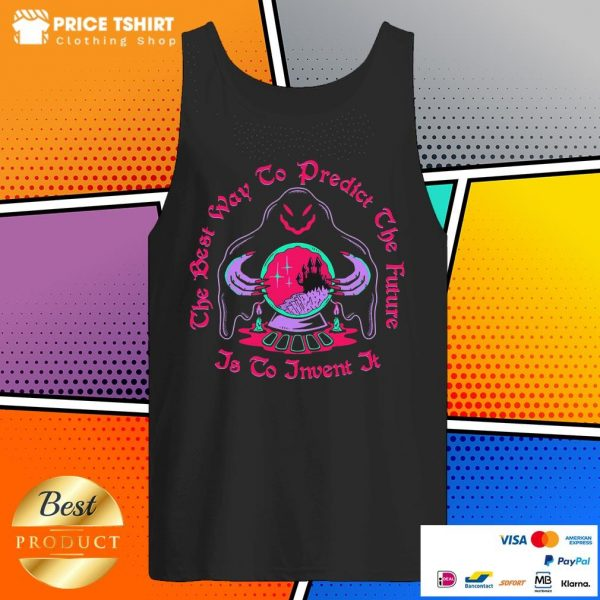 The Best Way To Predict The Future Is To Invent It Ghost Witch Halloween Tank Top