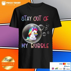 Unicorn Wear Face Mask Stay Out Of My Bubble LGBT Shirt