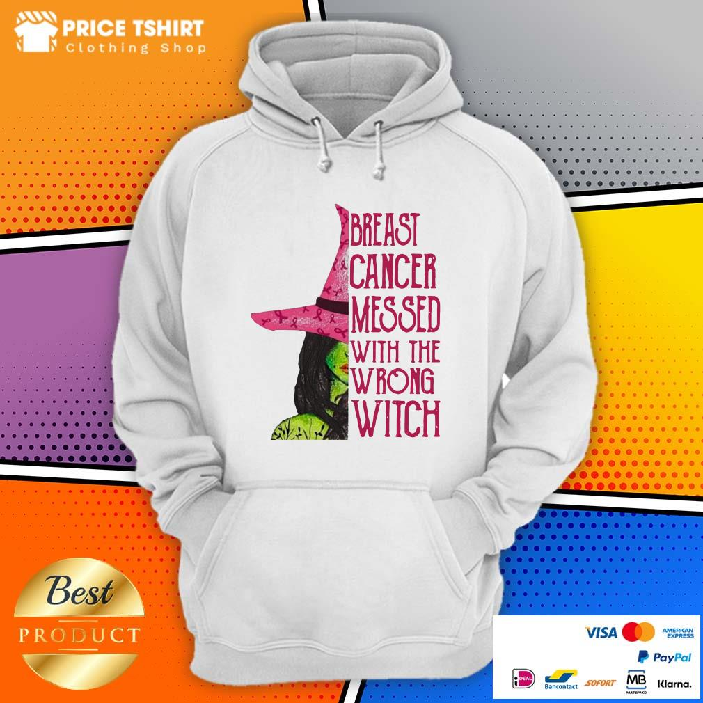 Breast Cancer Messed With The Wrong Witch Hoodie