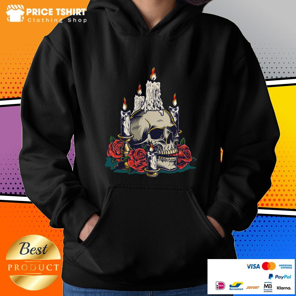 Day Of The Dead With Roses Vintage Skull Hoodie