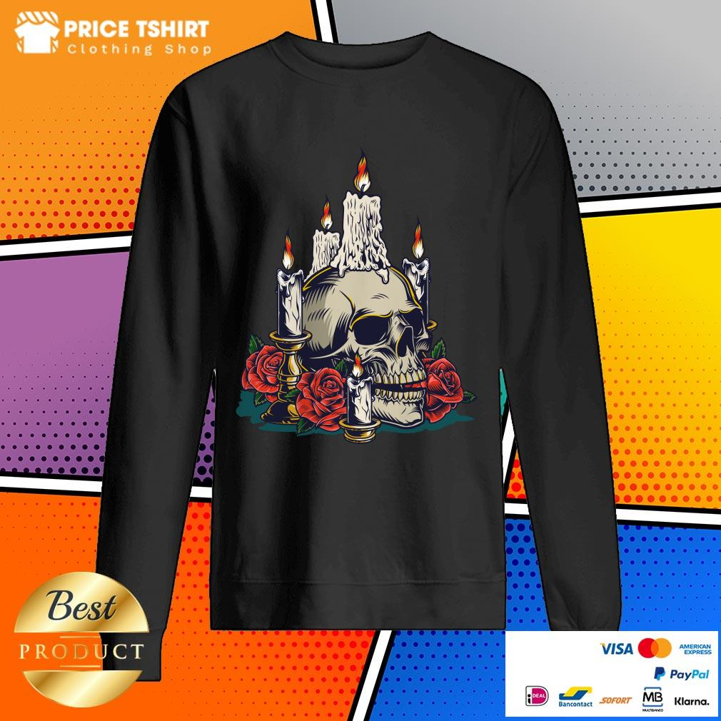 Day Of The Dead With Roses Vintage Skull Sweatshirt