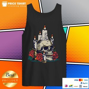 Day Of The Dead With Roses Vintage Skull Tank Top