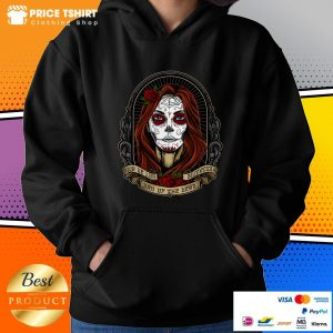 Mexican Lady With Rose Dia De Los Muertos Day Of The Dead Hoodie