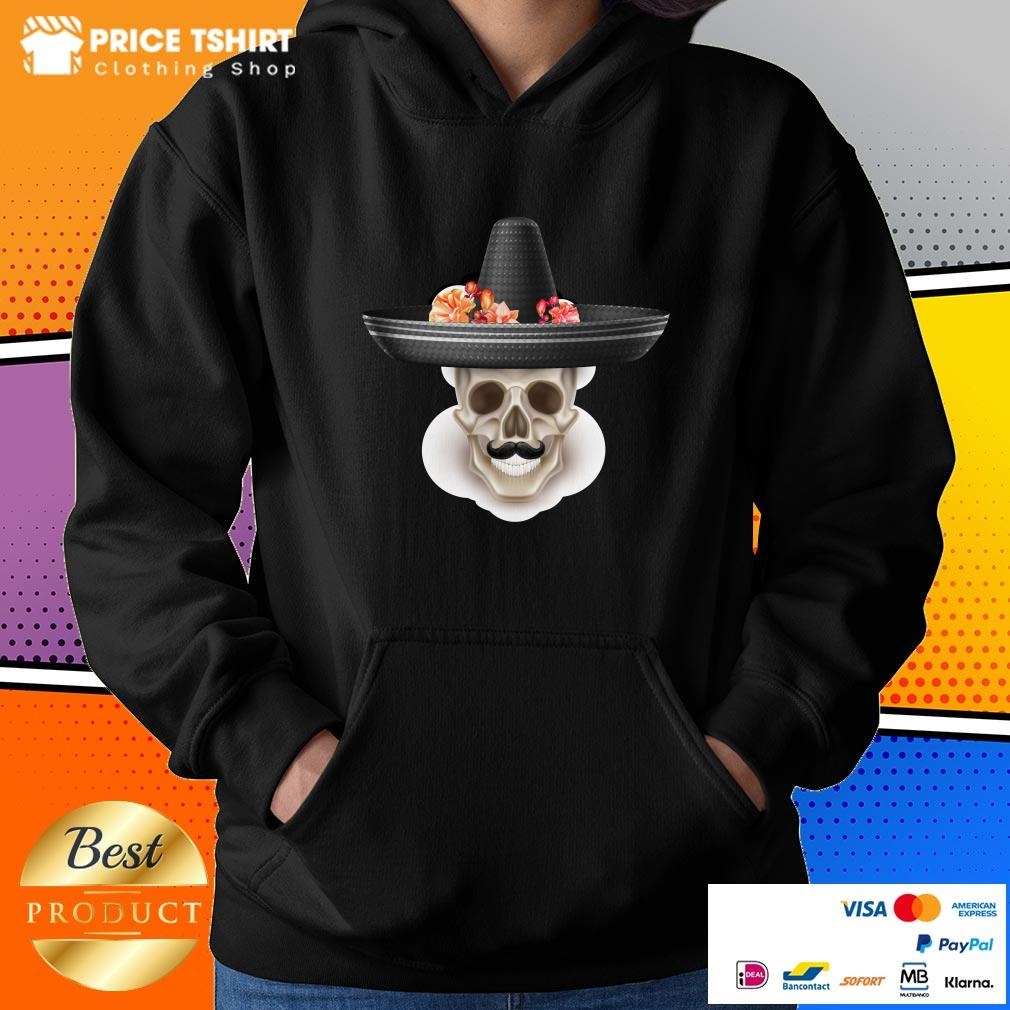 Mexican Man Skull Day Of The Dead Hibiscus Flower Hat Hoodie