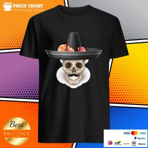 Mexican Man Skull Day Of The Dead Hibiscus Flower Hat Shirt
