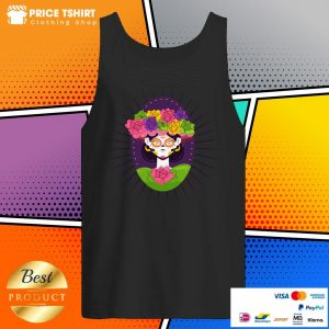 Sugar Skull Girl With Flower Day Of The Dead Tank Top
